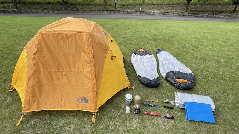 日本一周の荷物【キャンプ】