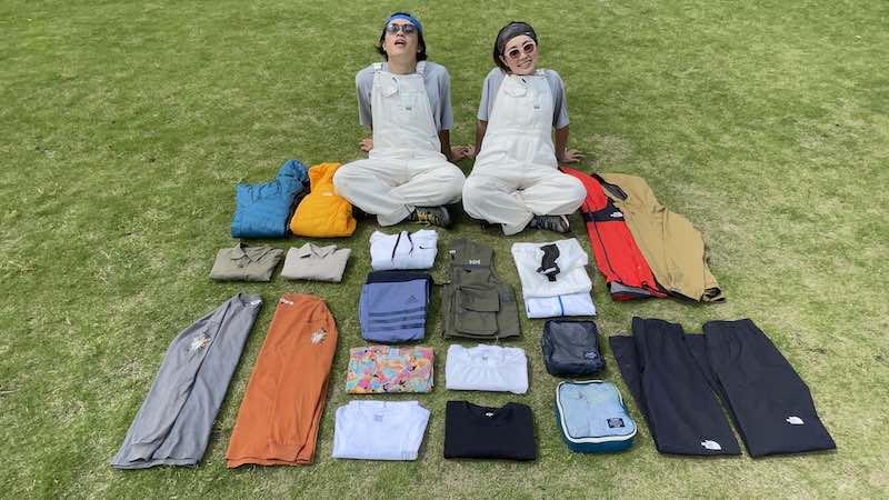 日本一周の荷物【衣類】